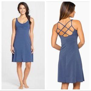PrAna Rebecca Tank Striped Dress Blue Crossback XS